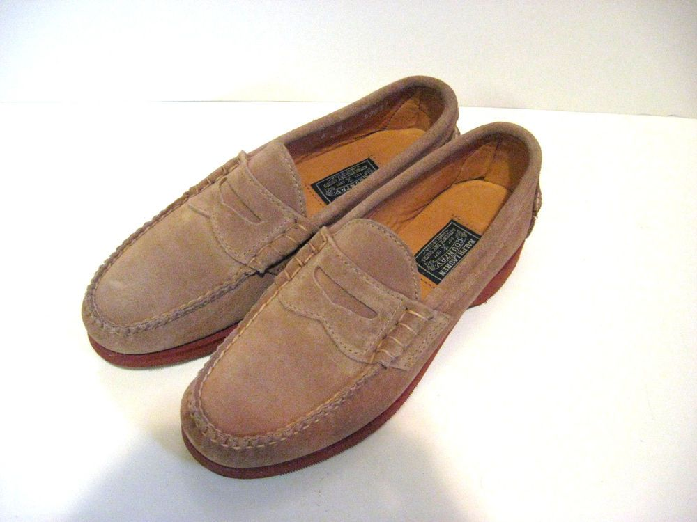 679895db404 WOMEN S RALPH LAUREN COUNTRY TAUPE SUEDE PENNY LOAFERS SIZE 6B EUC!   RalphLaurenCountry  LoafersMoccasins