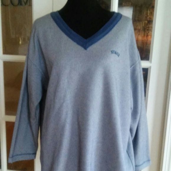 """NY & CO TOP PLUS SIZE $7 SALE In good cond some wear and tear but comfy . No size tag but  measures 24"""" across front under arms. I also am selling a pink one justlike this. NY & Co Tops"""