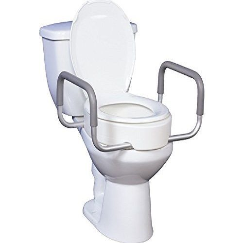 Removable Toilet Seat Rise Arms Handle Handicap Disabled Bathroom Safety Set Lid Toilet Seat Elongated Toilet Seat Handicap Toilet
