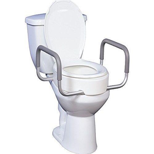 Handicap Bathroom Comedy removable toilet seat rise arms handle handicap disabled bathroom