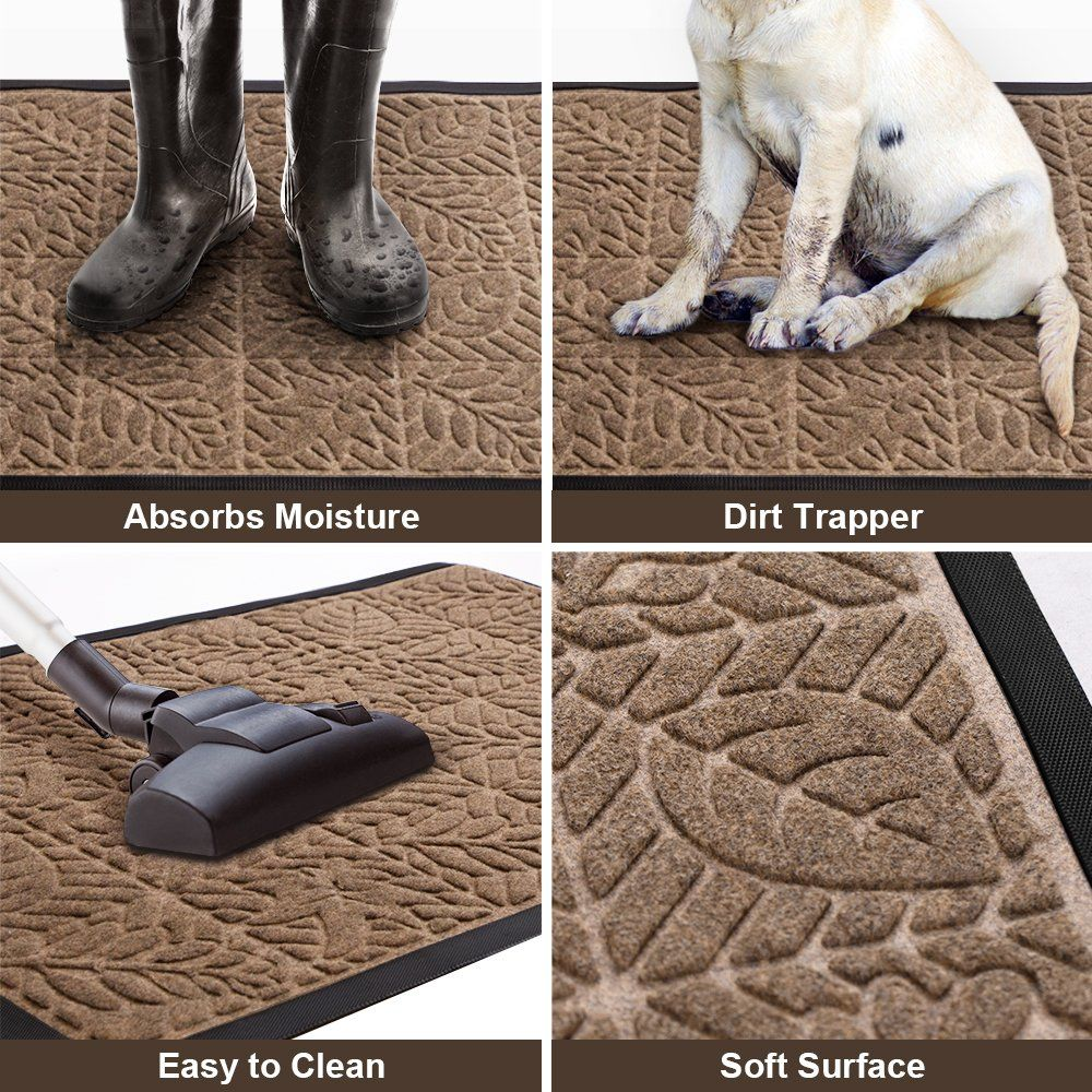 Amagabeli Large Outdoor Door Mats Rubber Shoes Scraper 36 x 24 for Front Door Entrance Outside Doormat Patio Rug Dirt Debris Mud Trapper Waterproof Out Door Mat Low Profile Washable Carpet
