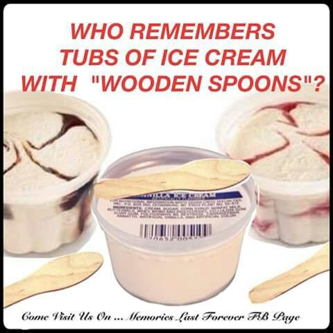Ice Cream Cups With Wooden Sticks Remember When Childhood
