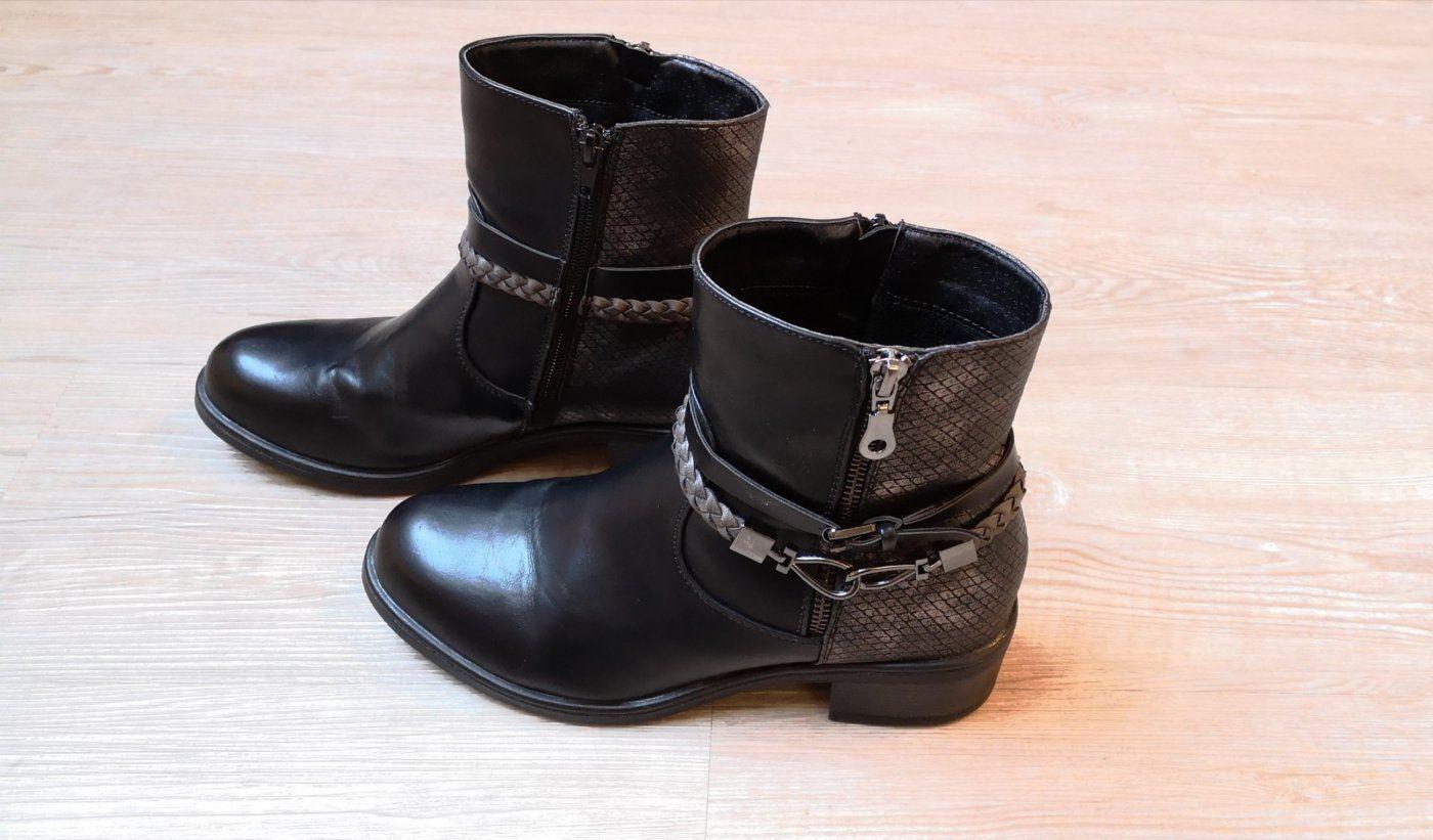 Boots Stiefeletten 38 Young Spirit schwarz winterboots | Mädchenflohmarkt