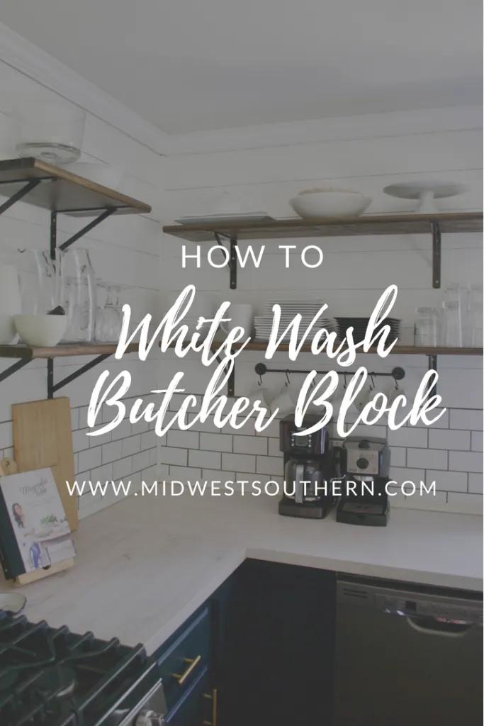How To White Wash Butcher Block Diy Butcher Block Countertops