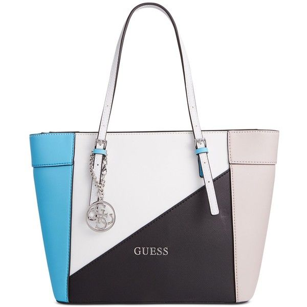 Guess Delaney Small Classic Tote 88 Liked On Polyvore Featuring Bags Handbags