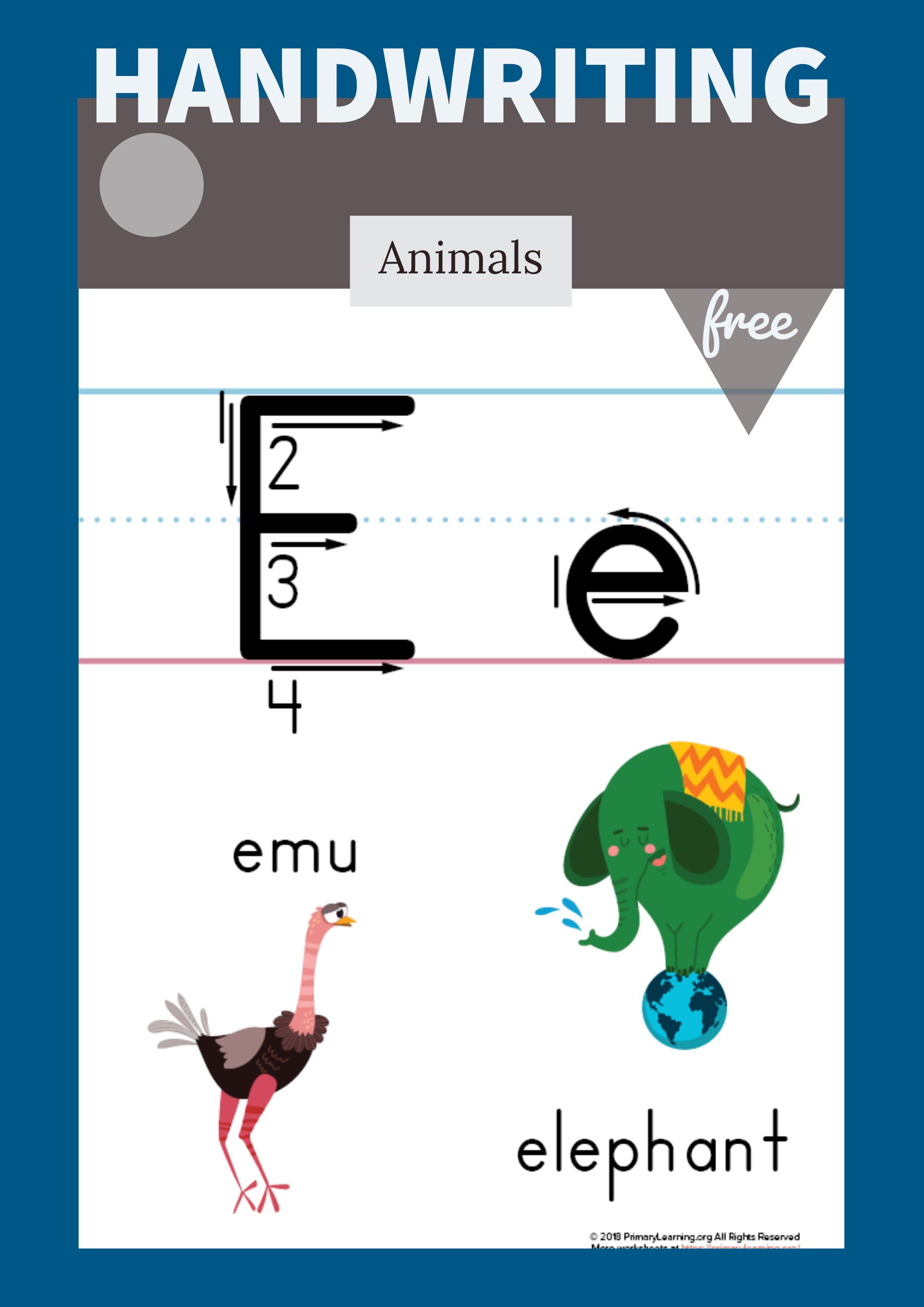 Letter E Printable Poster