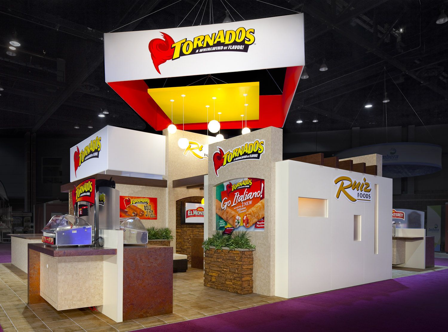 Exhibition Stand Design Sample : Ruiz foods trade show exhibit featured two separate brands