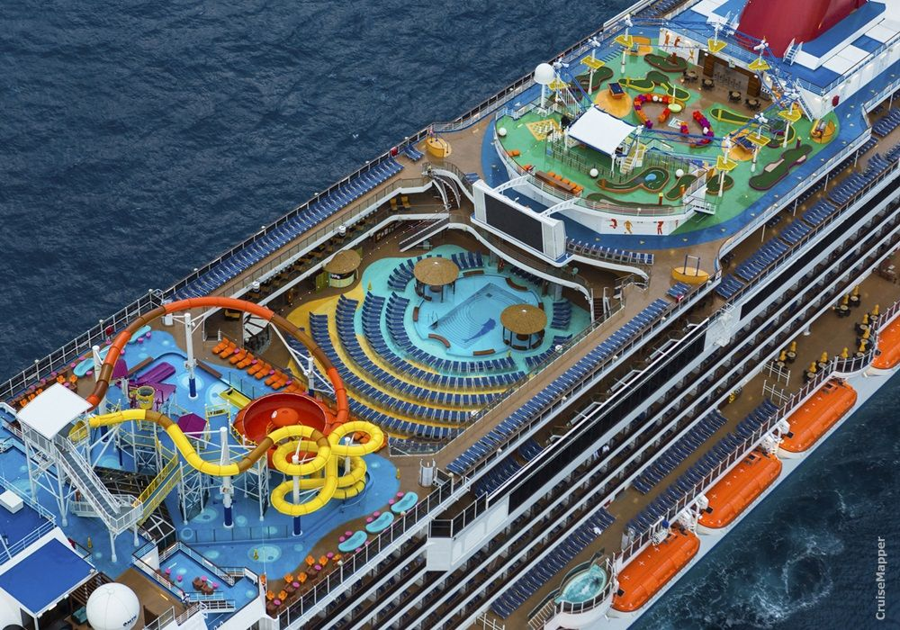Carnival Cruise Ship Top Deck Breeze Dream Magic Best Cruise Lines Carnival Cruise Line Carnival Cruise Ships
