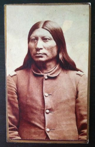 Very Nice Native American Indian Policeman Sitting Portrait CDV