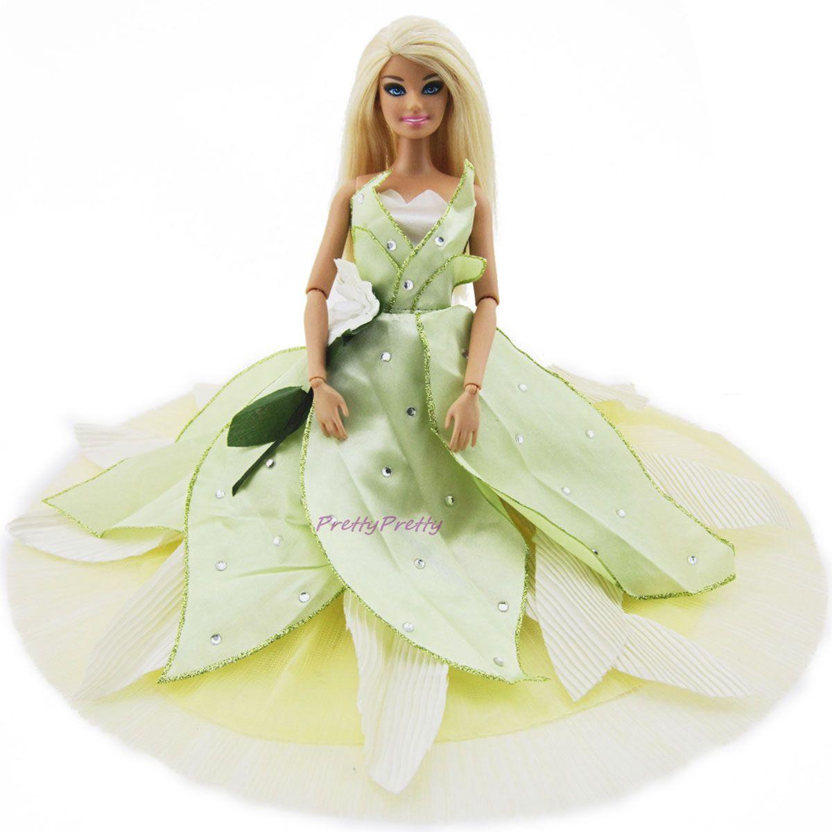 Märchen Trägerlos Grün Prinzessin Dress Hochzeit Kleid Kleidung Für ...