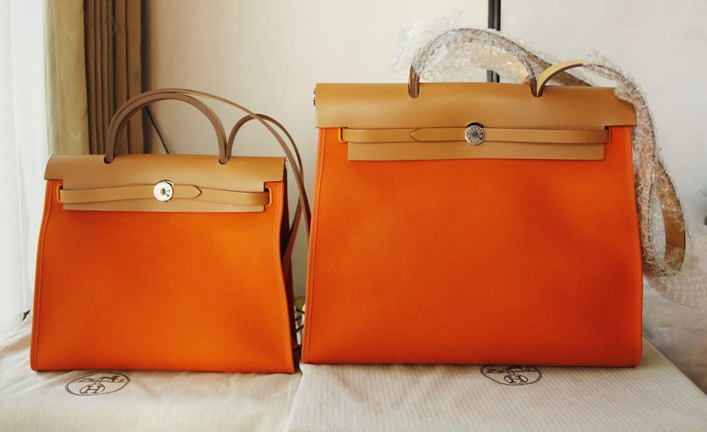 caa9ceefe Hermes Herbag Orange PM & MM | BAGS and wallets | Herbag hermes ...