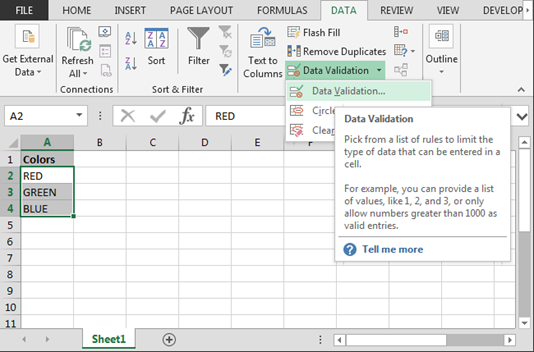 Create Drop Down List In Excel With Color Tips Excel Drop Down List Force Users