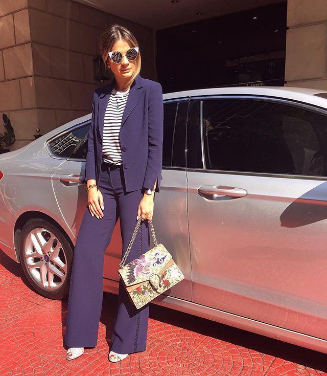 Navy Kinda Day Pronta De Terninho Fillity Para Mais Um Dia De Trabalho Por Aqui Que Tal Sempre Acompanhada Dos Fashion Fashion Blogger Street Style