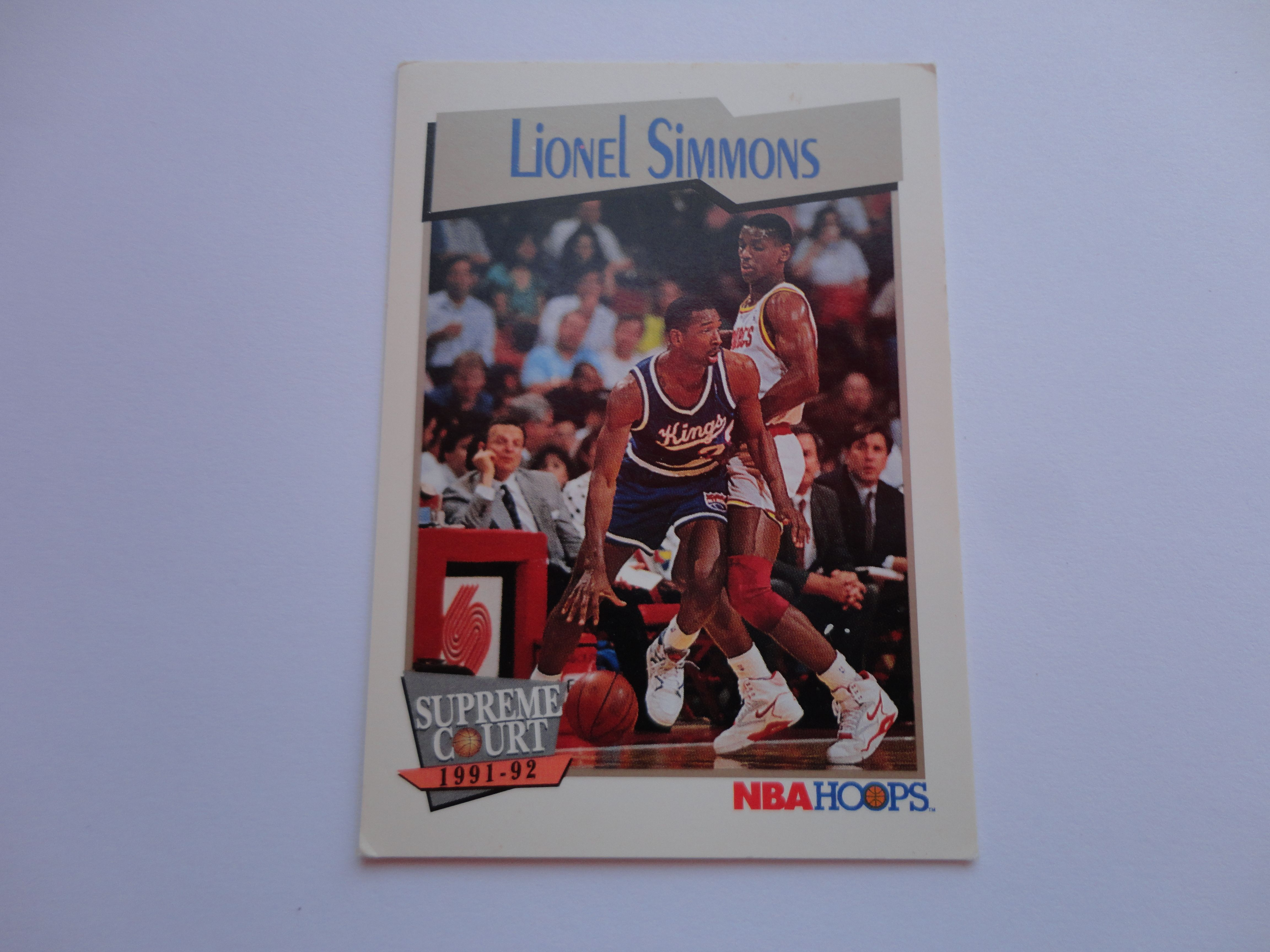 Lionel Simmons NBA Hoops Supreme Court 1991 92 Basketball Card