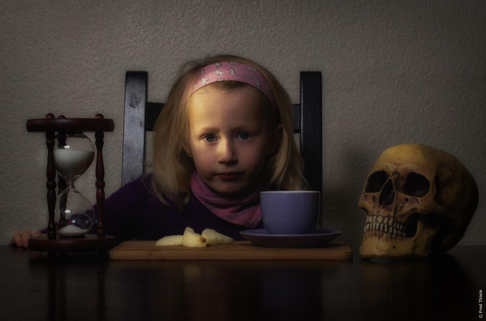 vanitas symbols w/ child portrait (colored version) by Fred Thiele on 500px