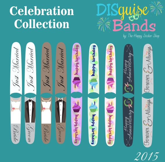 Celebration Collection Magic Band Decal DISguise Band Vinyl Decal - Magic band vinyl decals