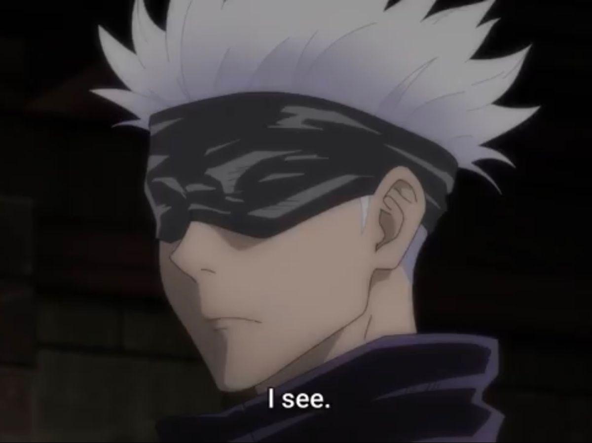 I See Gojo Satoru Anime Jujutsu Anime Boy