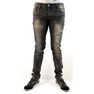 Heren Broek Skinny fit Elastisch Zwart HB006  Fashion Planet