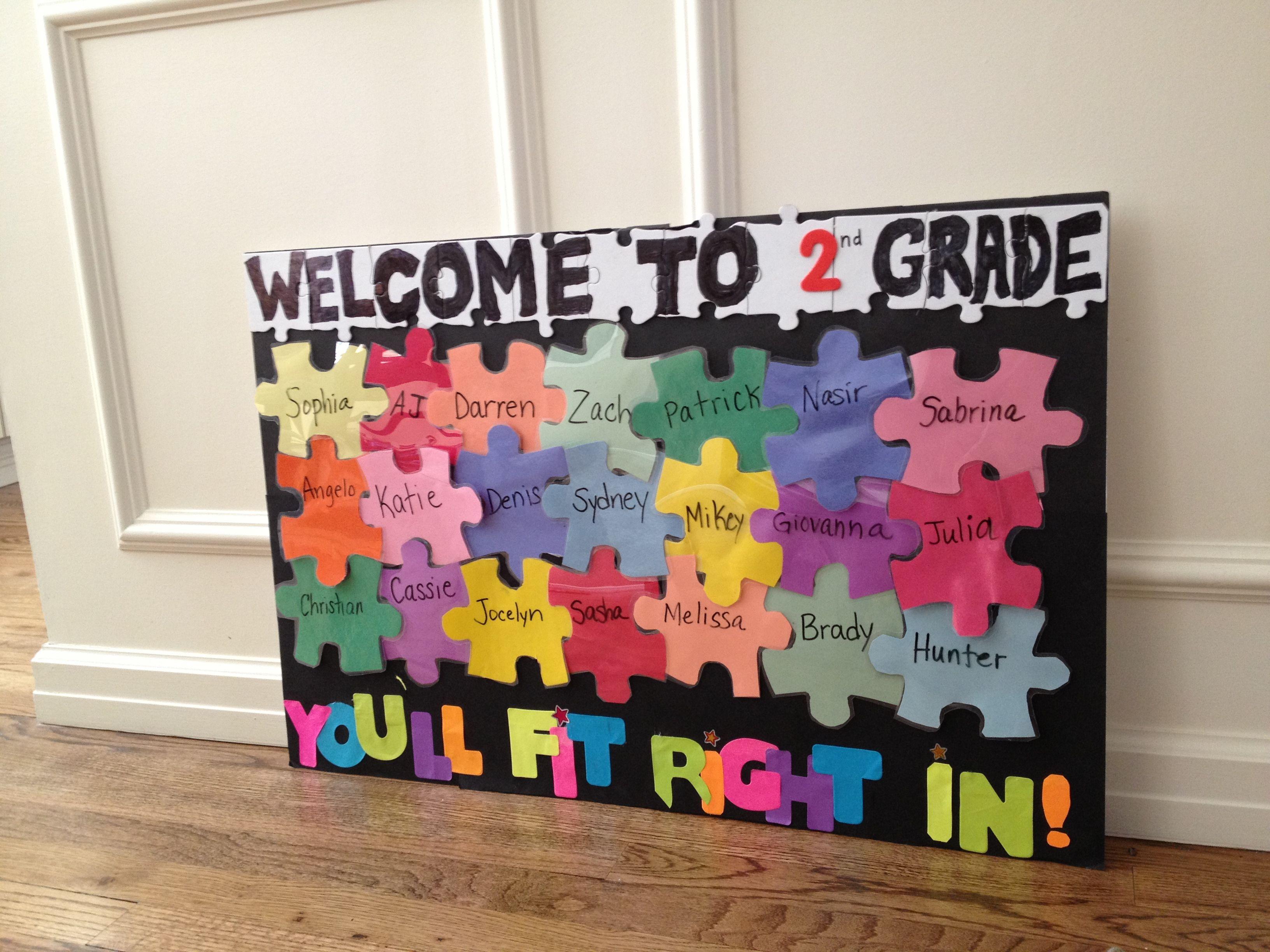 Second Grade Welcome Bulletin Board