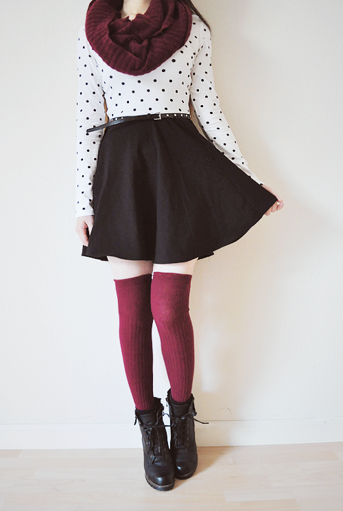 Knee high socks winter outfits tumblr