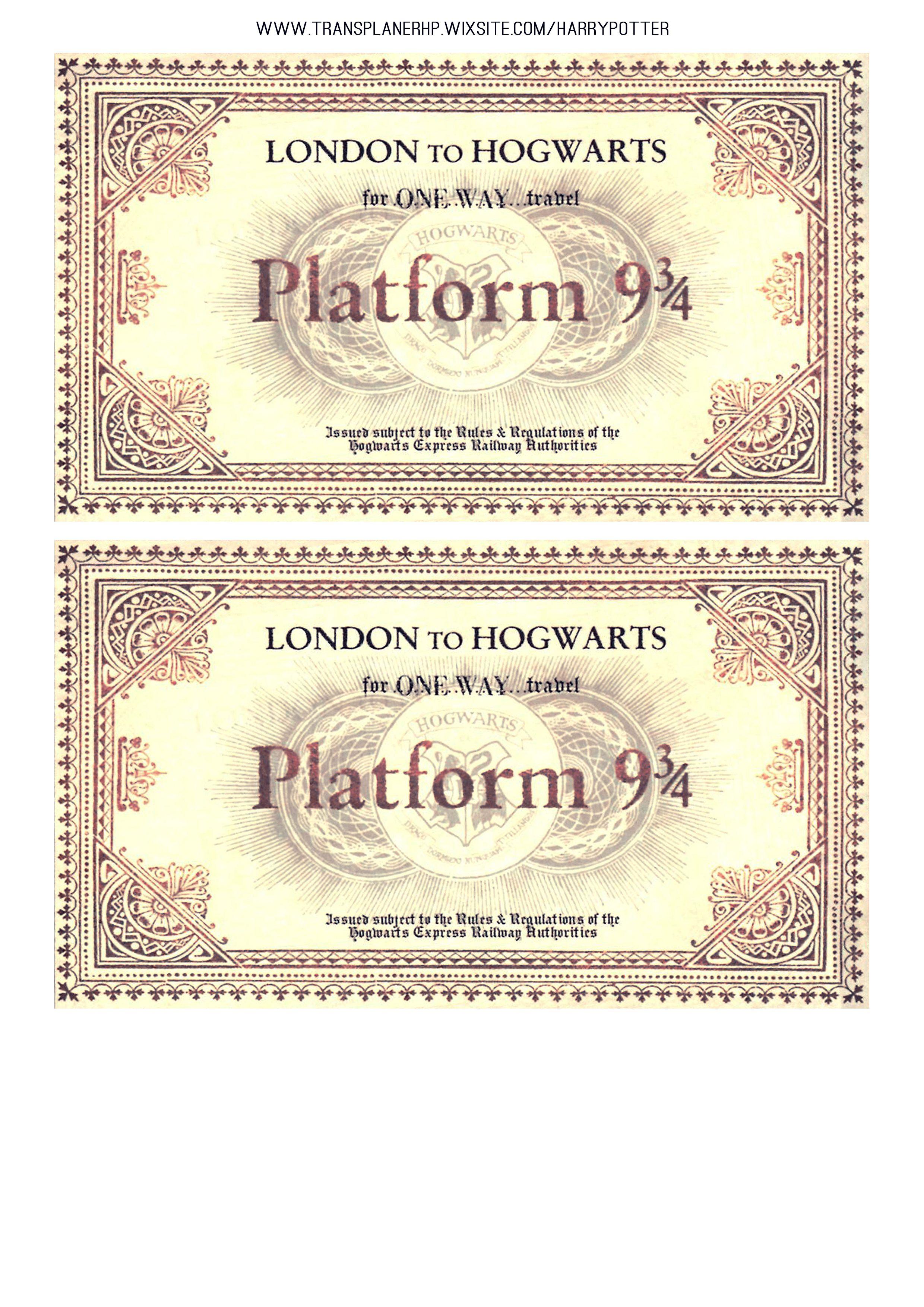Diy Ticket Voie 9 3 4 Lettre Harry Potter Harry Potter Bricolage Monopole Harry Potter