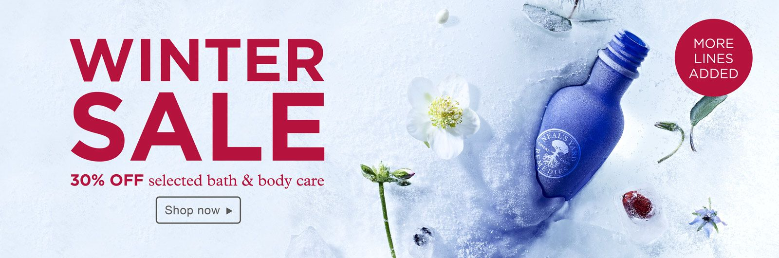 Winter sale at Neals Yard Remedies! Save 30 on selected
