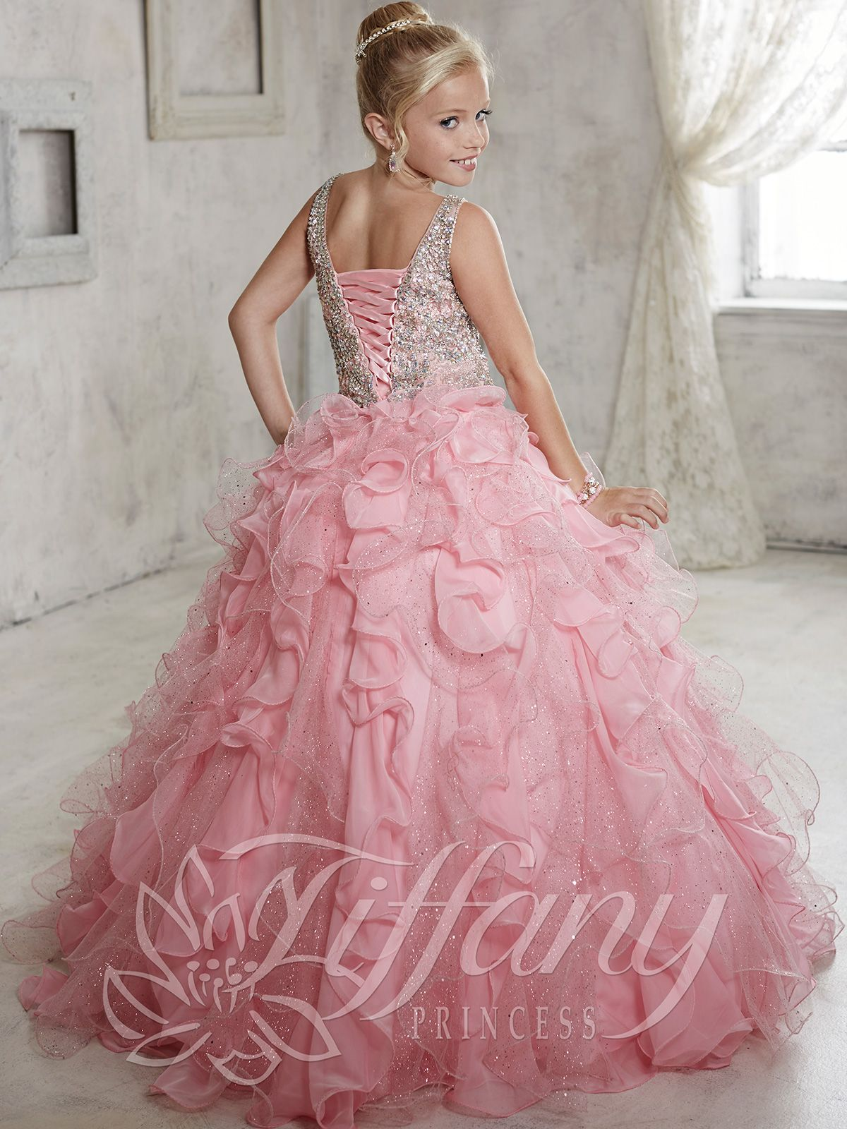 Tiffany Princess 13440 Ruffled Skirt Girls Pageant Gown | pageant ...