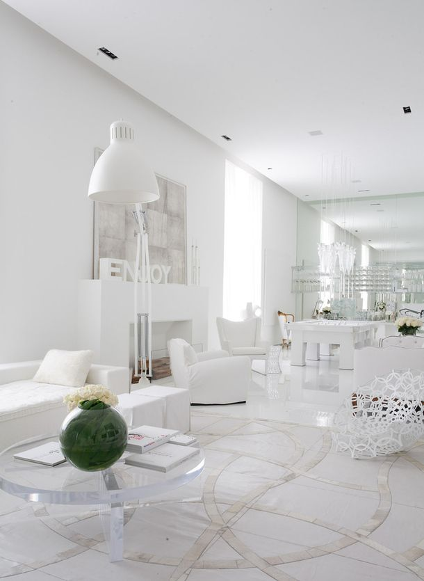 All White Interiors | All Shades Of White: 30 Beautiful Living Room Designs
