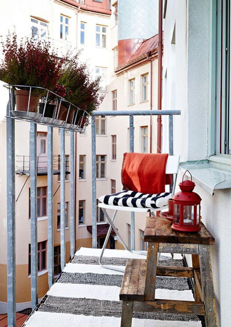 Balcone Lungo E Stretto outfit per esterno | decorazione balcone dell'appartamento