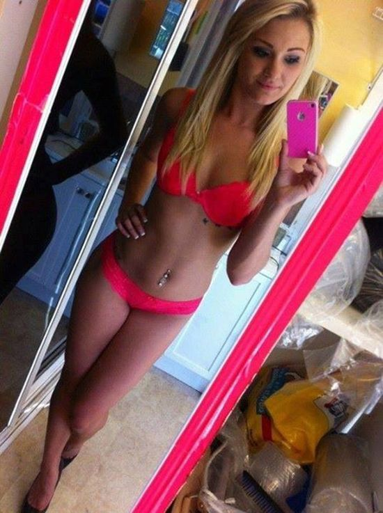 girl selfie sexy mirror Hot in