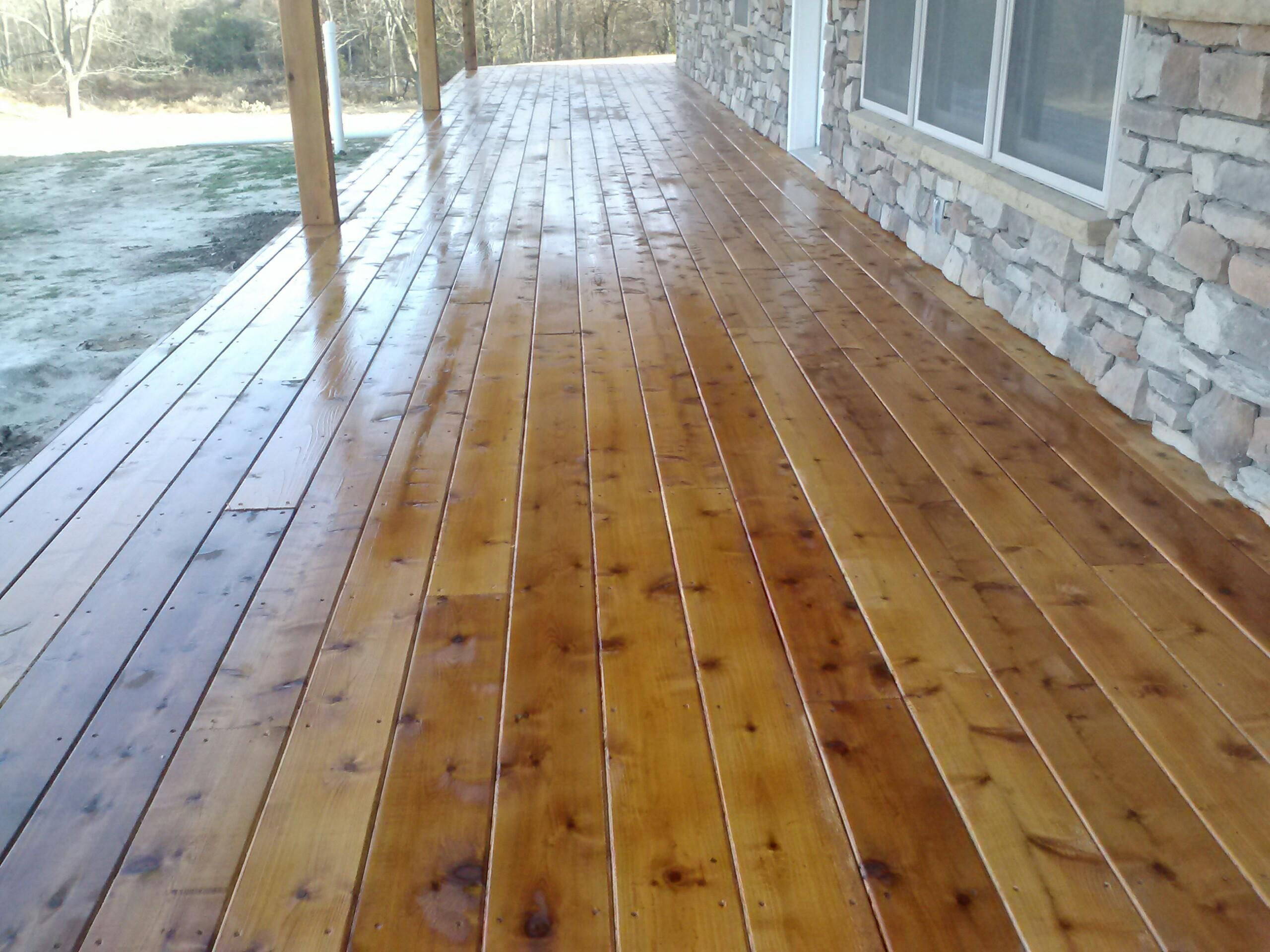 how to clean a stained cedar deck