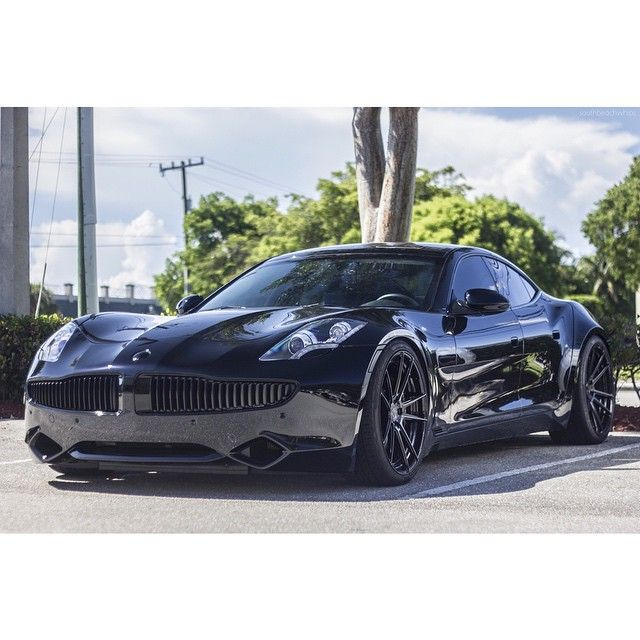 Blacked Out Fisker Karma #murderedout #blackedout