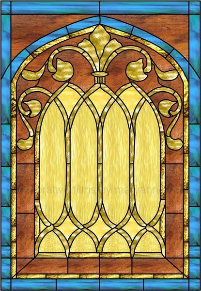 Stained Glass Church Window Decorative Window Film