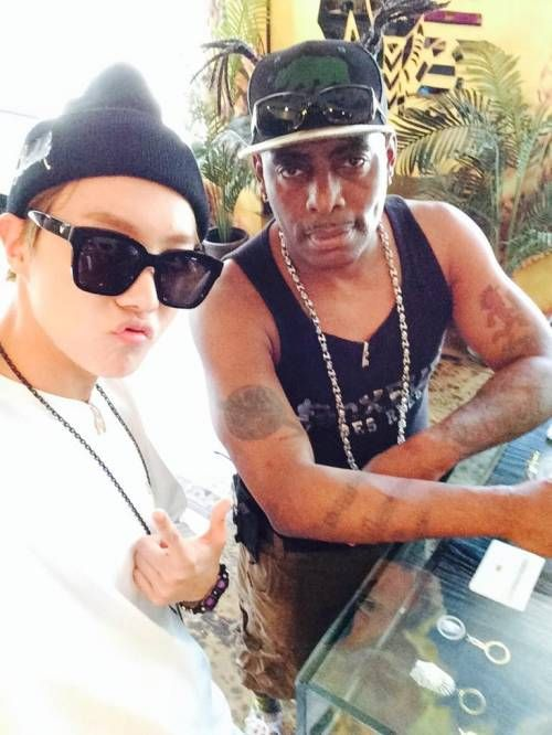 J-Hope with Coolio