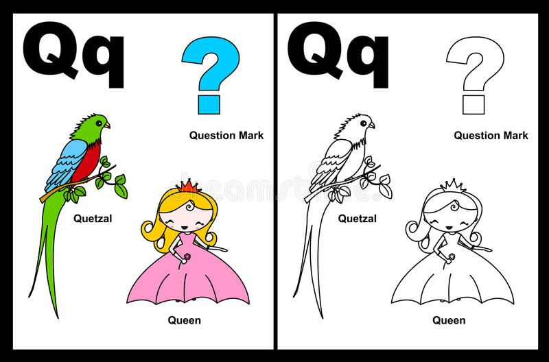 Letter Q Worksheet Alphabet Letter Q With Colorful Cliparts And Coloring Graphi Affiliate Alphabet Letter Alphabet For Kids Alphabet Coloring Letter Q Coloring letter q worksheets preschool