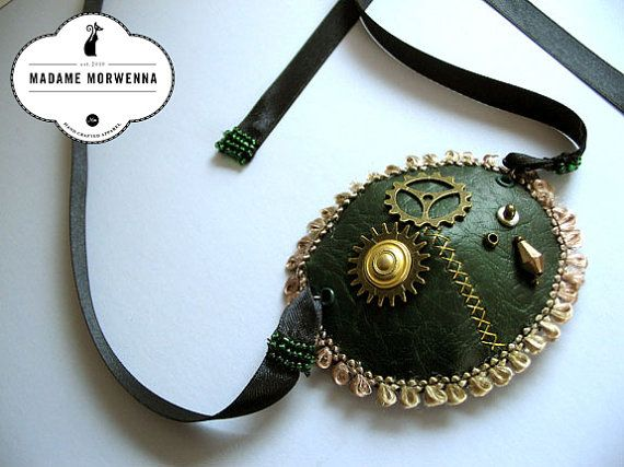 Steampunk Eyepatch in Leatherette Various by MadameMorwenna, £12.95