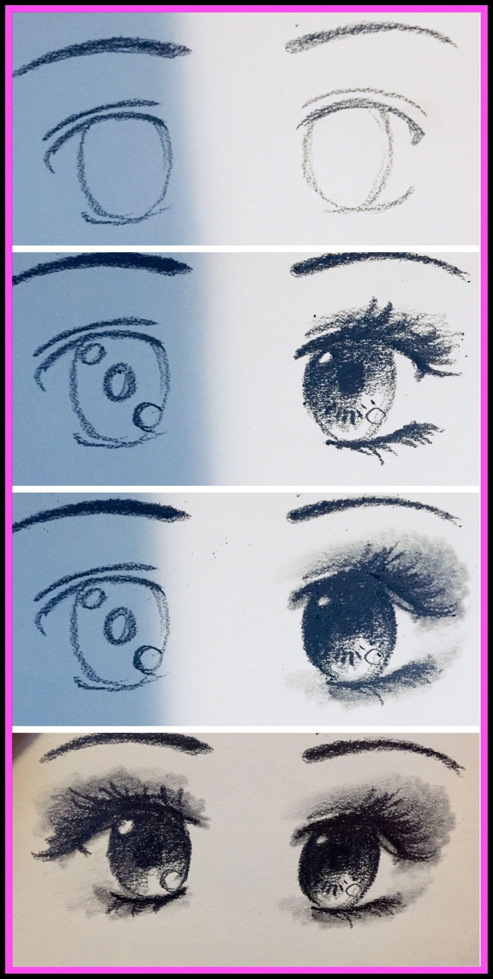 Anime Eyes Drawing Tutorial Steemit Eye Drawing Tutorials
