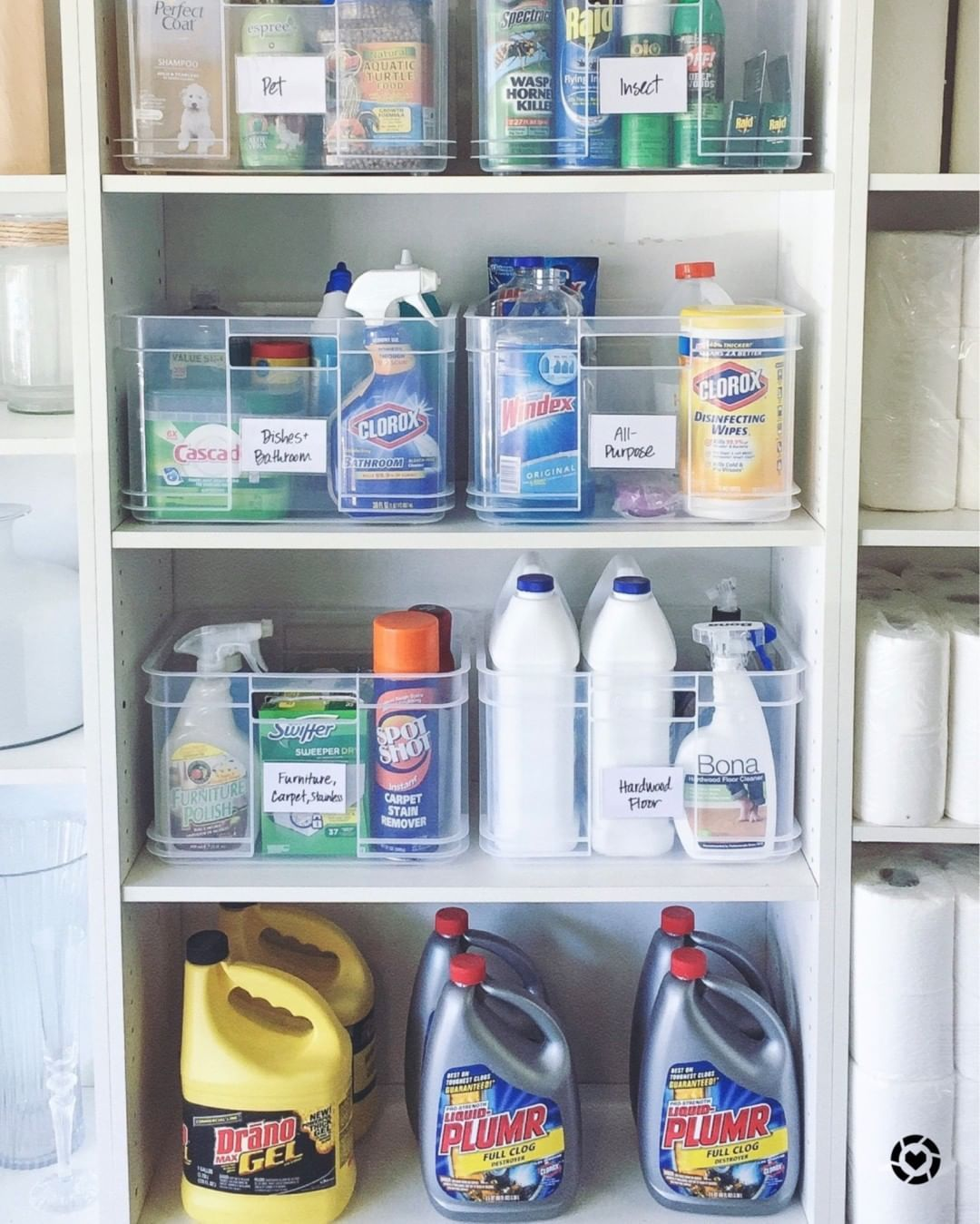 Keeping Your Home Clean Can Be A Full Time Job Save Time And Energy Cleaning Supplies Organization Apartment Closet Organization Cleaning Closet Organization