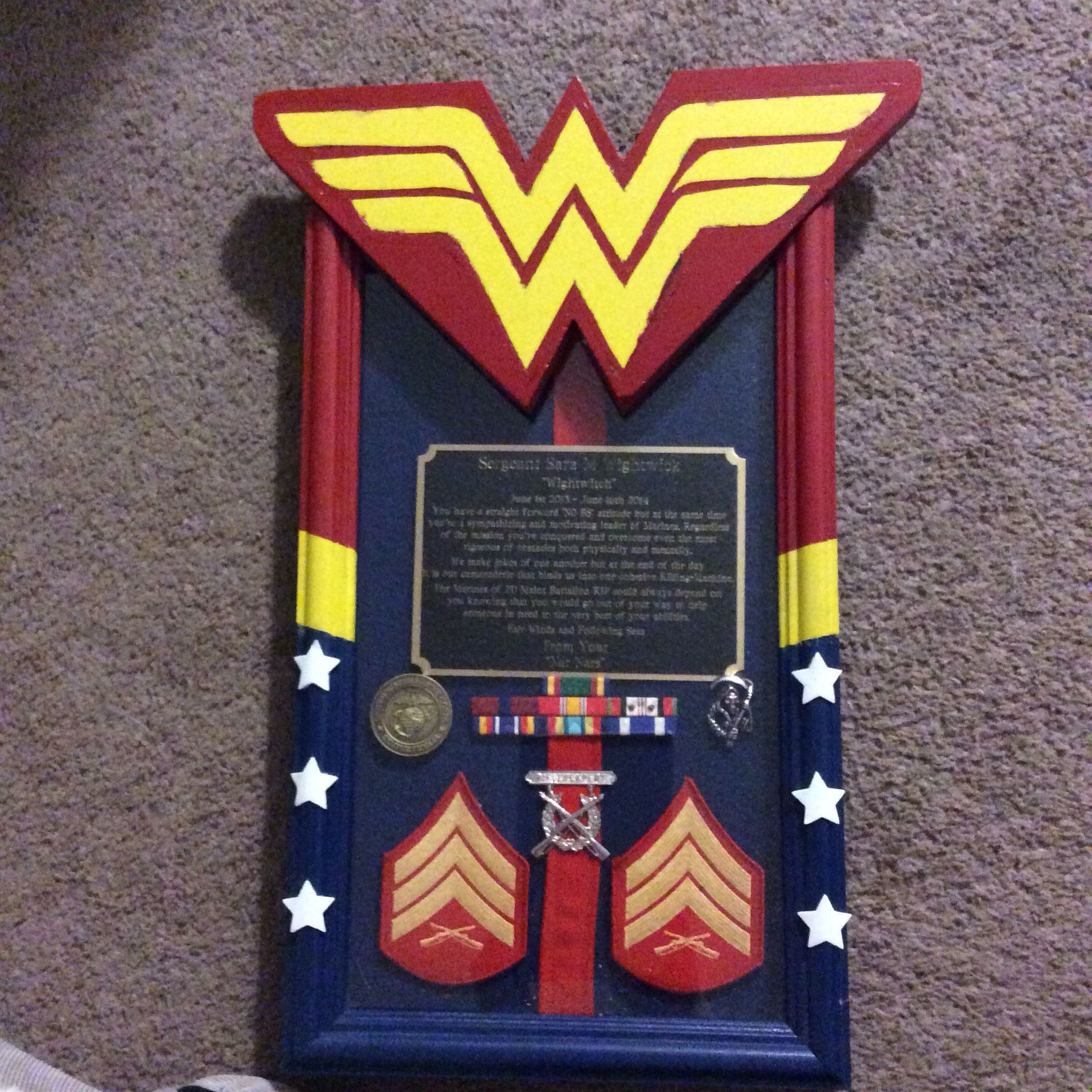 Going Away Quotes For Military Plaques: #USMC Marine Corps Plaque Made For Me By My Amazing Friend