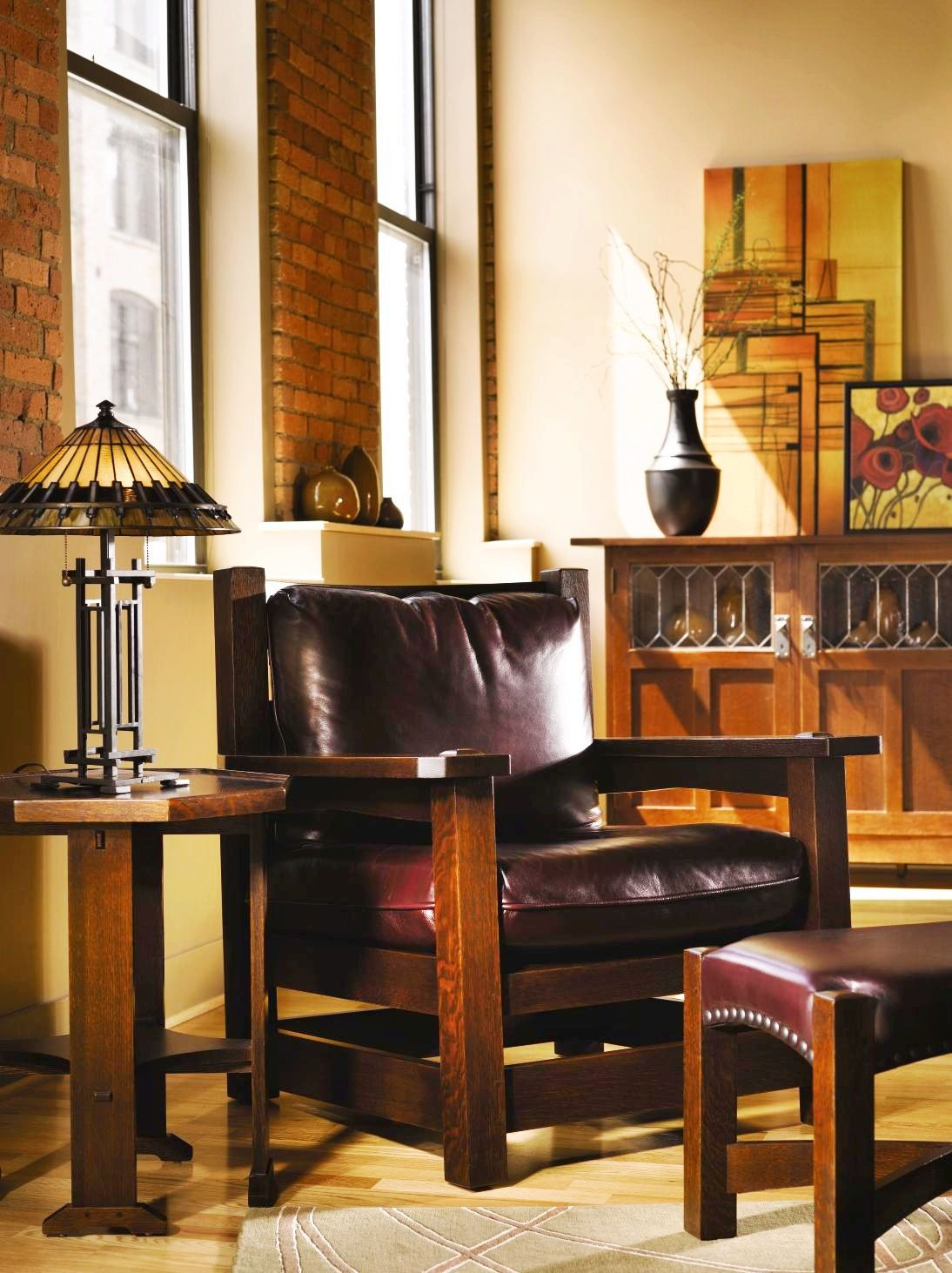 Brilliant Eastwood Chair And Ottoman Stickley Furniture Craftsman Dailytribune Chair Design For Home Dailytribuneorg