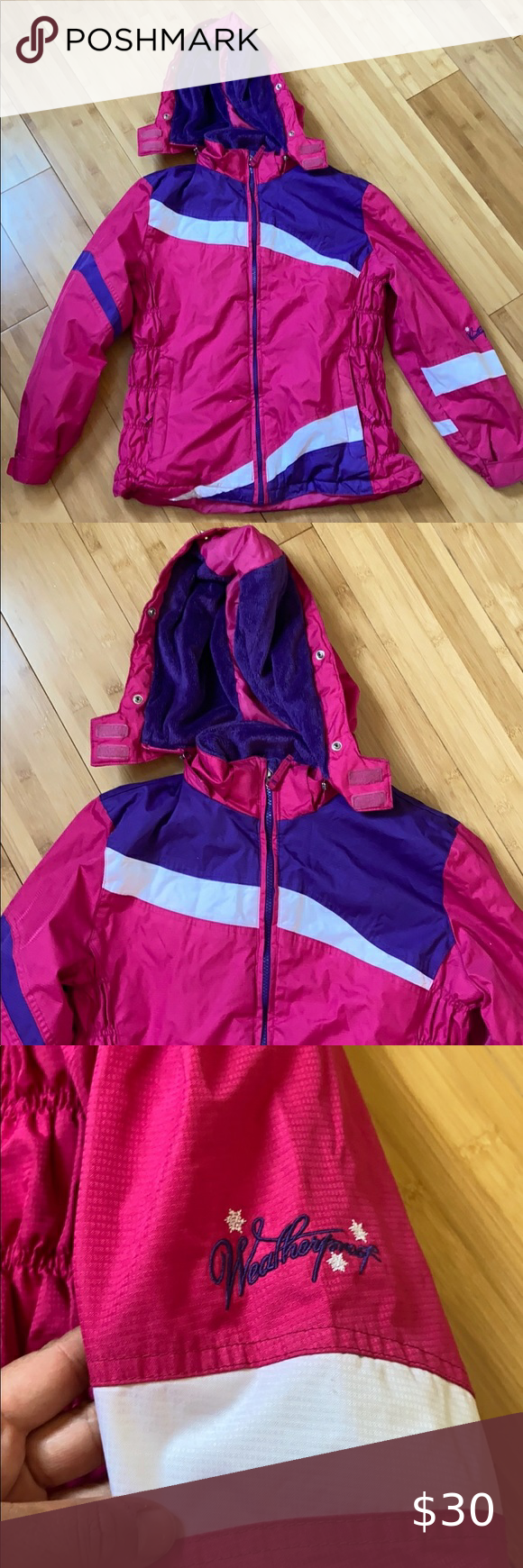 Authentic Weatherproof Winter Jacket Excellent Used Condition Authentic Weatherproof Pink And P Toddler Winter Jackets Girls Winter Jackets Boys Winter Jackets [ 1740 x 580 Pixel ]