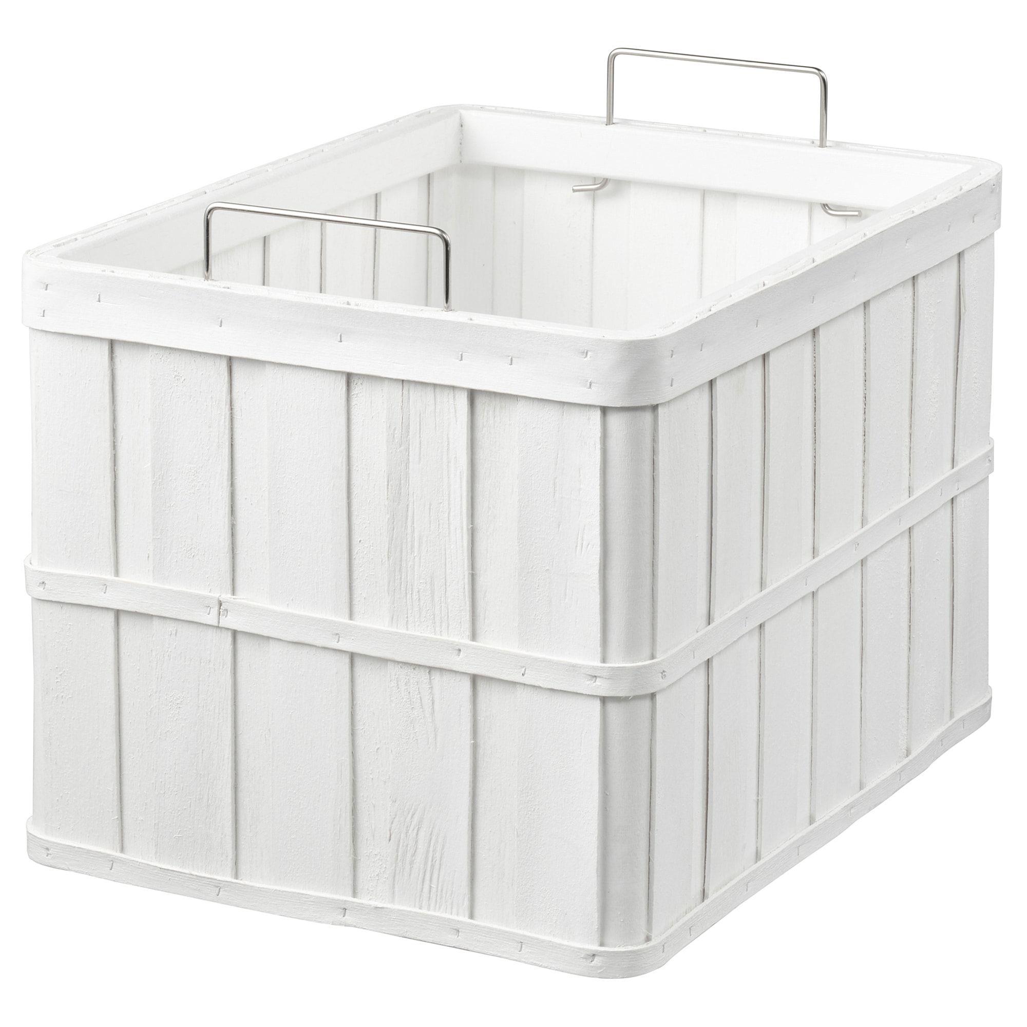 Ikea Brankis White Basket Products In 2019 Ikea Ikea Basket
