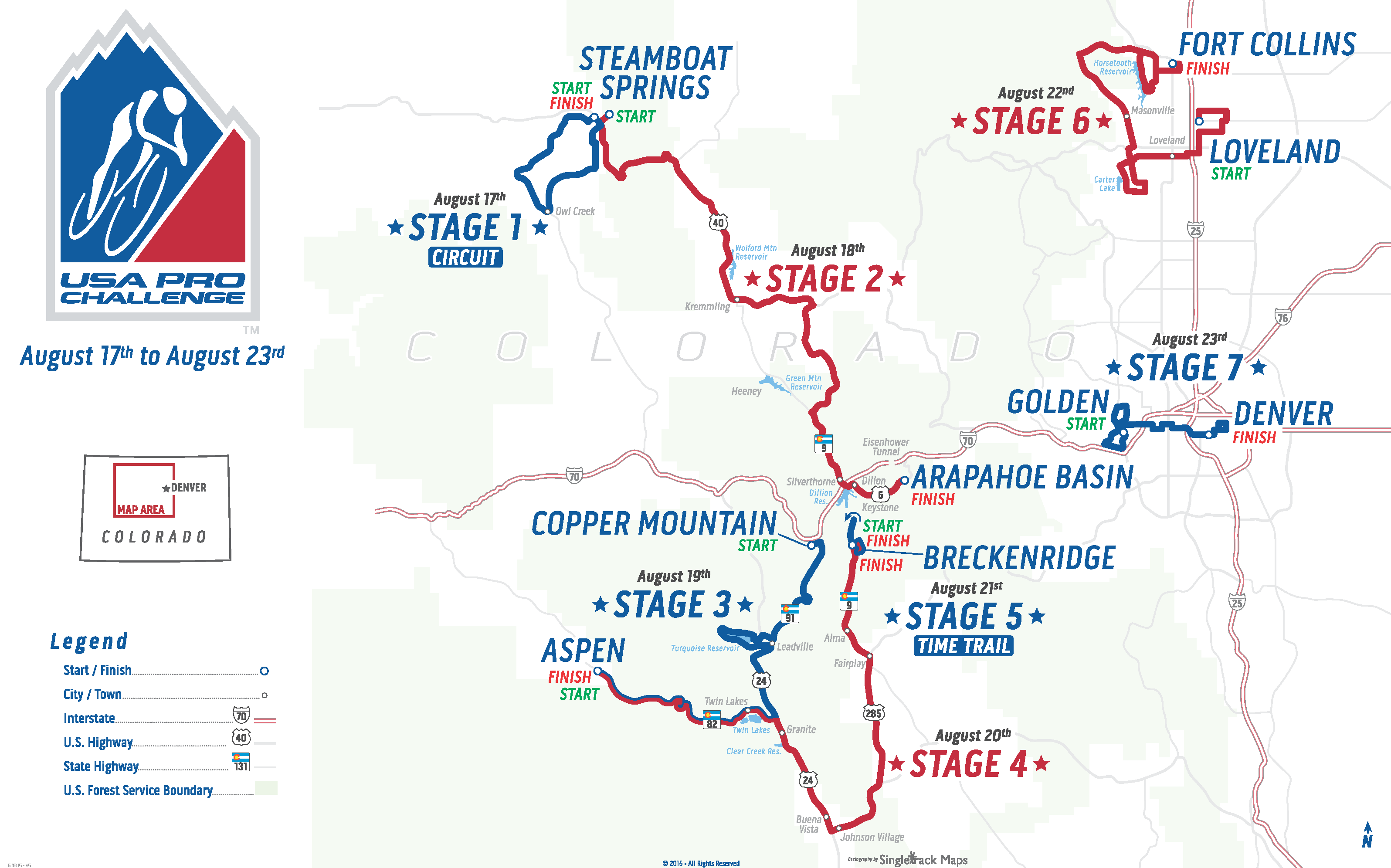 Us Pro Challenge Denver Map USA Pro Cycling Challenge | Usa pro, Colorado, Cycling events