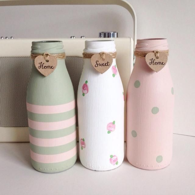 29 Diy Glass Milk Bottle Crafts Ideas Diy Ideas Pinterest