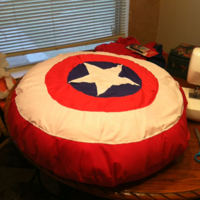 Astounding Captain America Bean Bag Chair D Marvel Bedroom Gmtry Best Dining Table And Chair Ideas Images Gmtryco
