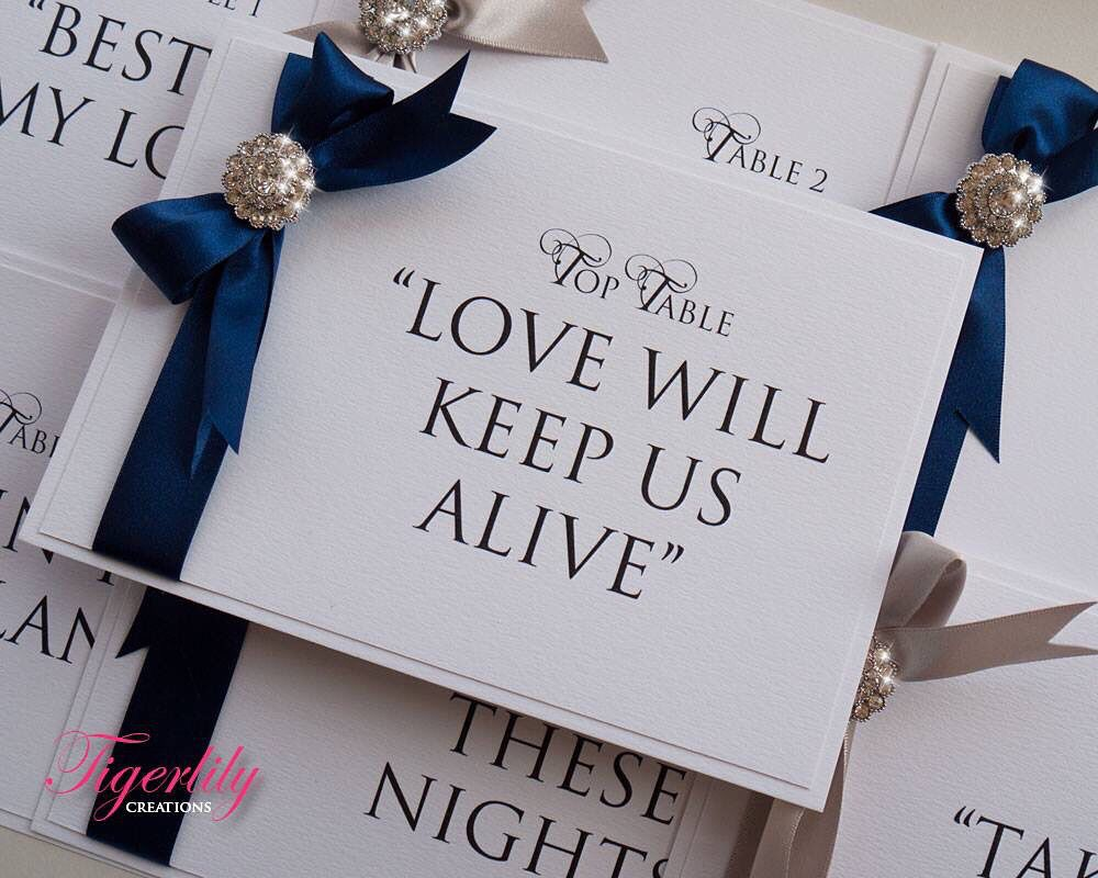 Boutique Table Name by Tigerlily Creations | Wedding Stationery ...