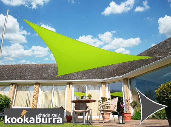 Kookaburra® 3.6m Triangle Lime Green Waterproof Woven Shade Sail & Kookaburra® 3.6m Triangle Lime Green Waterproof Woven Shade Sail ...