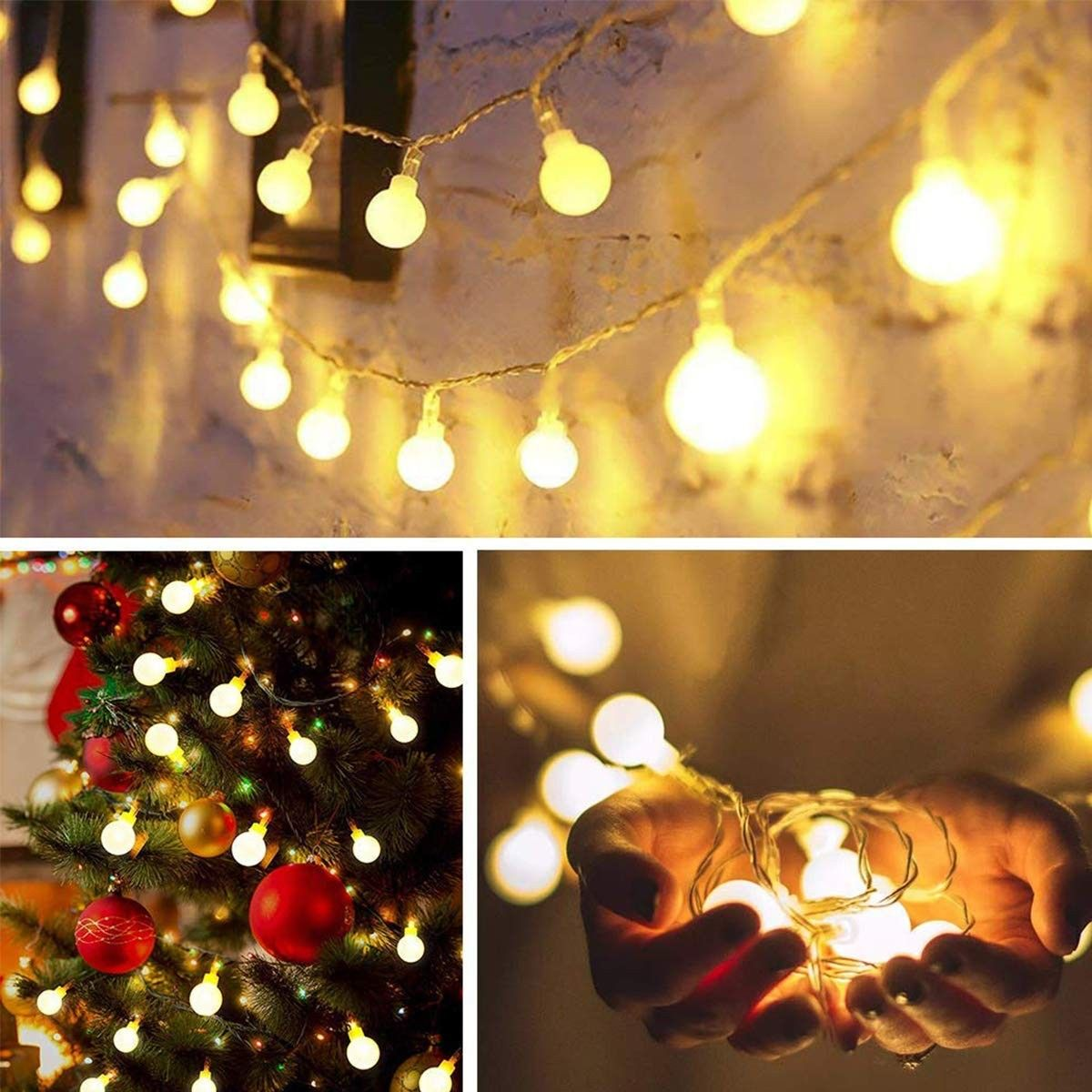 meet 80234 a2c05 Decorative String Lights - 14.8ft 40 LED Waterproof Indoor ...