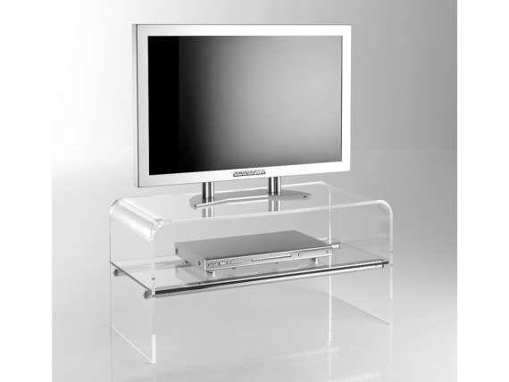 media meuble tv a roulettes en