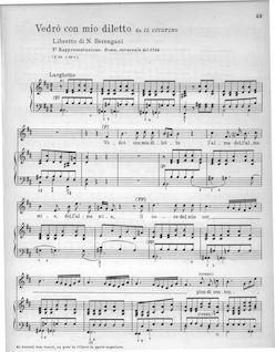 Téléchargement de l'ouvrage : Partition Aria: Vedrò con mio diletto, Giustino…